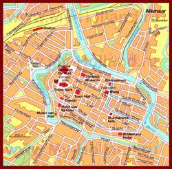 Карта Алкмара с достопримечательностями