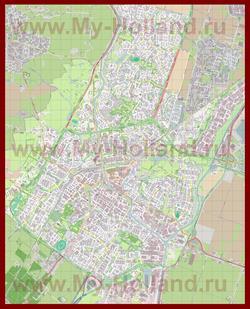 Подробная карта города Алкмар