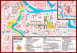 Туристическая карта Алкмара с отелями и ресторанами