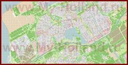 Подробная карта города Алмере