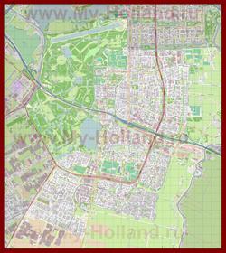 Подробная карта города Амстелвен