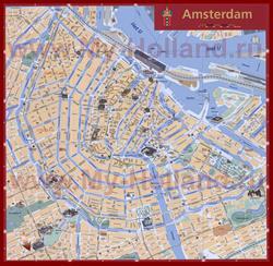 Туристическая карта Амстердама