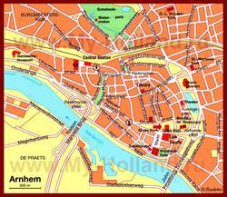 Карта Арнема с достопримечательностями