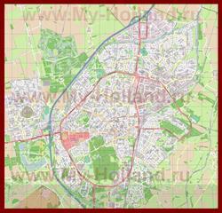 Подробная карта города Ассен