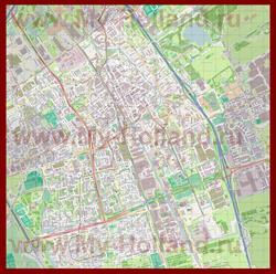 Подробная карта города Делфт