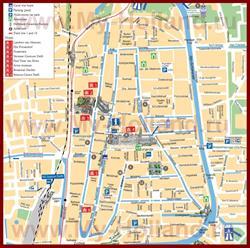 Туристическая карта Делфта с достопримечательностями