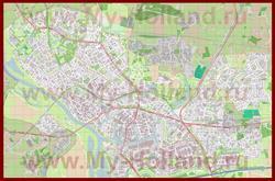 Подробная карта города Девентер