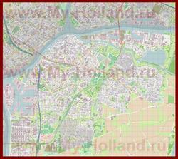 Подробная карта города Дордрехт