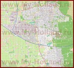 Подробная карта города Эдэ