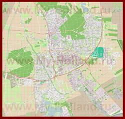 Подробная карта города Эммен