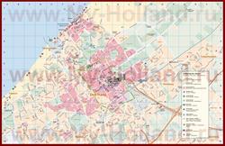 Карта Гааги с отелями и достопримечательностями