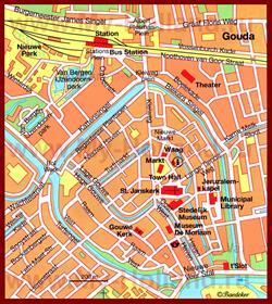 Карта Гауды с достопримечательностями