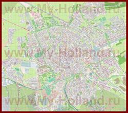 Подробная карта города Гронинген