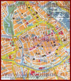 Туристическая карта Гронингена