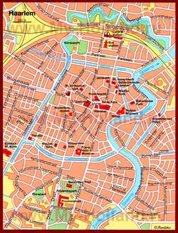 Карта Харлема с достопримечательностями
