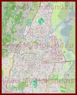 Подробная карта города Харлем