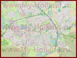 Подробная карта города Хертогенбос