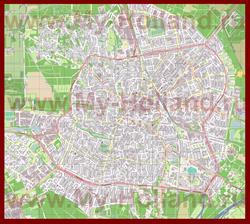 Подробная карта города Хилверсюм