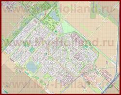 Подробная карта города Хофддорп
