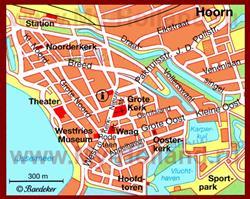 Карта Хоорна с достопримечательностями