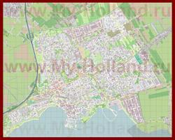 Подробная карта города Хоорн