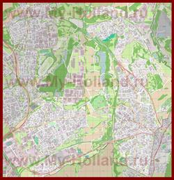 Подробная карта города Керкраде