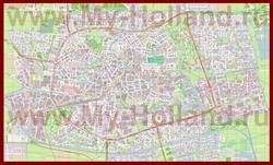 Подробная карта города Леуварден