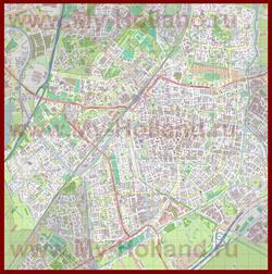 Подробная карта города Лейден