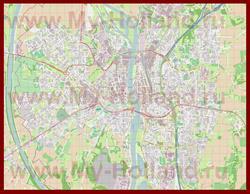 Подробная карта города Маастрихт