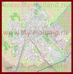 Подробная карта города Мидделбург