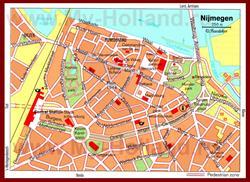 Карта Неймегена с достопримечательностями