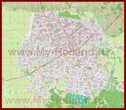 Подробная карта города Рейссен