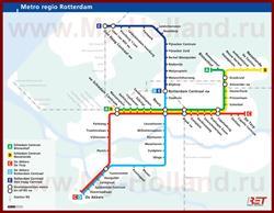 Карта метро Роттердама