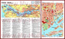 Карта Роттердама с достопримечательностями