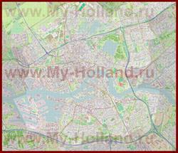 Подробная карта города Роттердам