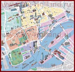 Туристическая карта Роттердама