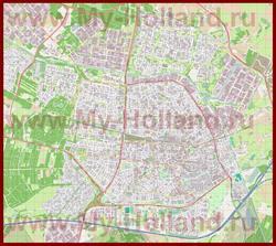 Подробная карта города Тилбург