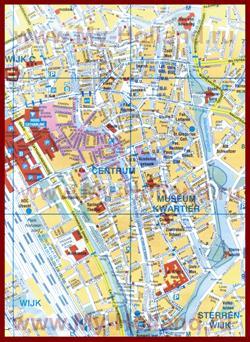 Туристическая карта Утрехта с достопримечательностями