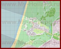 Подробная карта города Вейк-ан-Зее