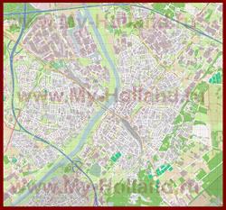 Подробная карта города Венло