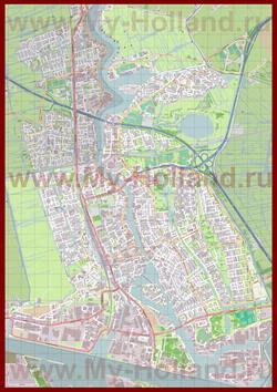 Подробная карта города Заандам