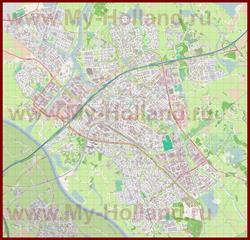 Подробная карта города Зволле