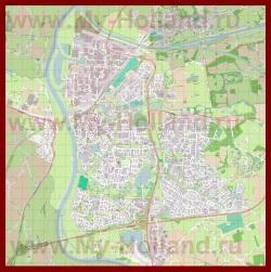Подробная карта города Зютфен
