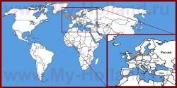 Нидерланды на карте Европы и мира